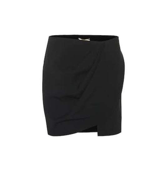 Saint Laurent Crêpe miniskirt in black