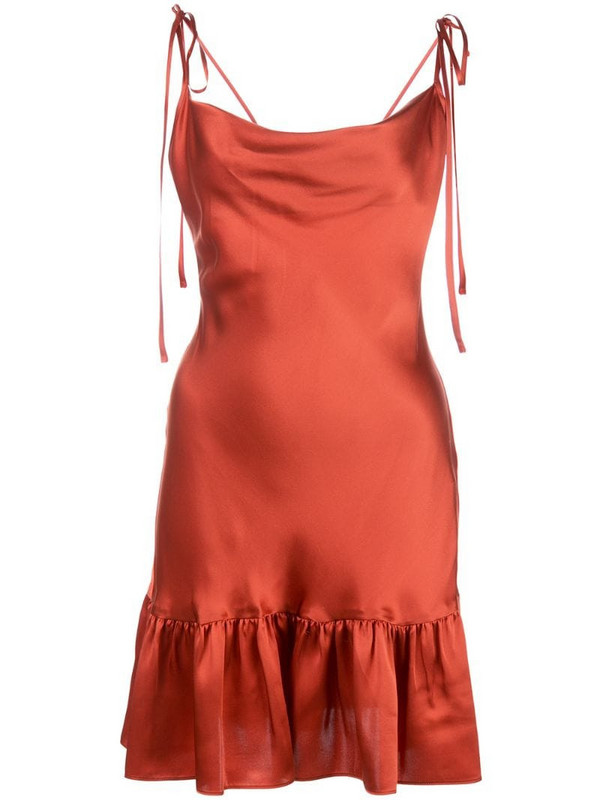 Cynthia Rowley Juliet charmeuse slip dress in red