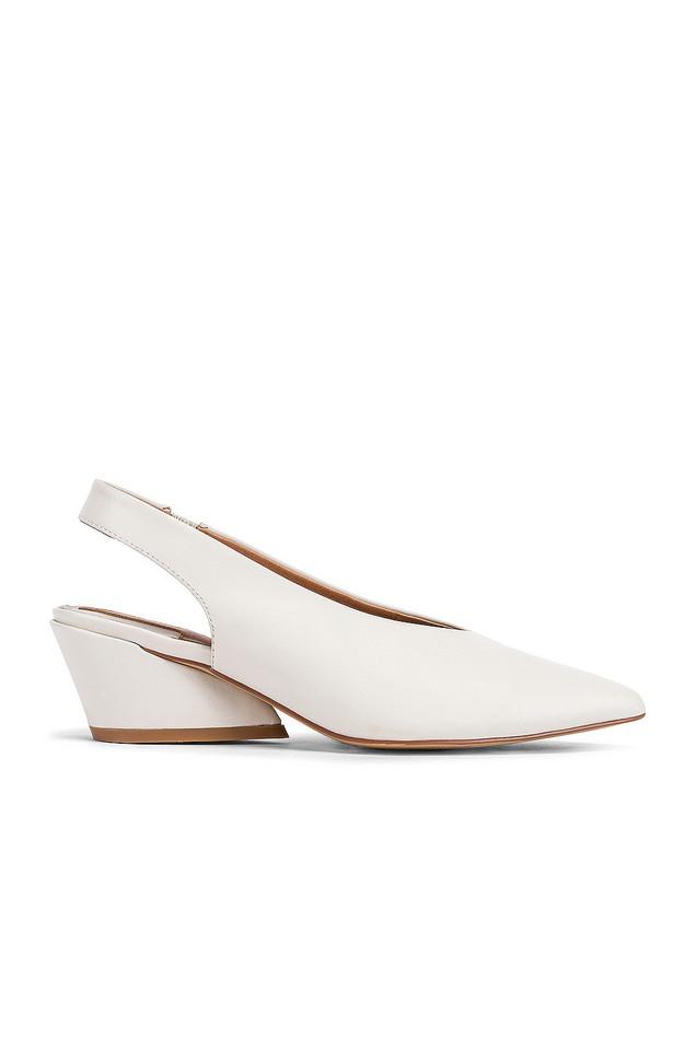 JAGGAR Aim Leather Slingback Heel in white
