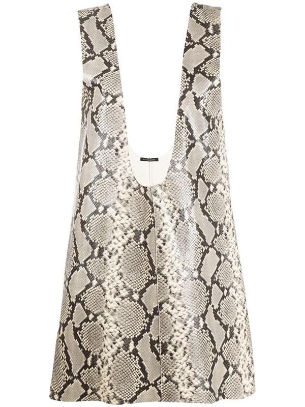 Wandering snakeskin-print sleeveless vest in neutrals