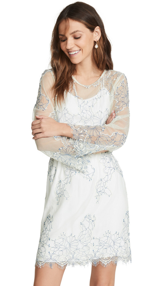 Loyd/Ford Corded Lace Dress in white