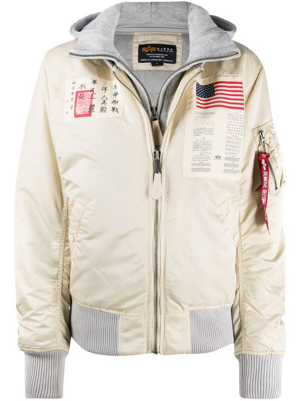 Alpha Industries space patch jacket in white