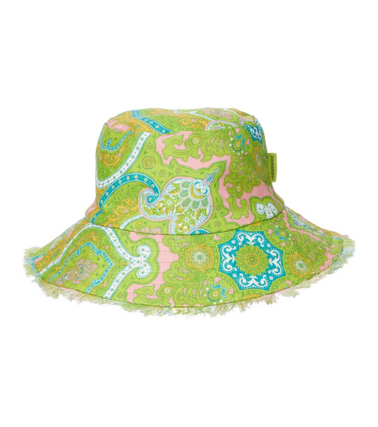 Zimmermann Paisley linen bucket hat in green