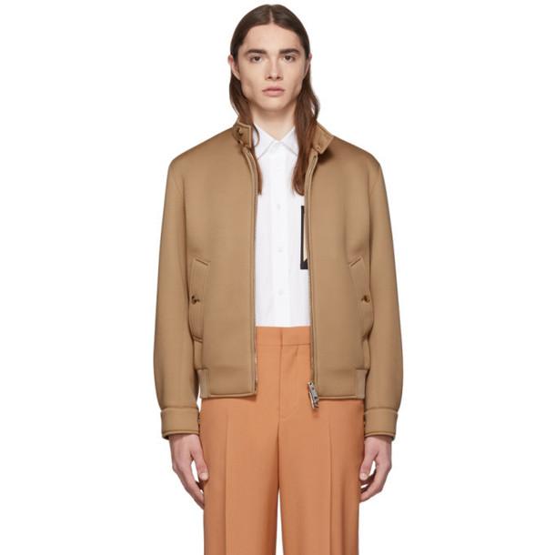 Burberry Beige Neoprene Harrington Jacket