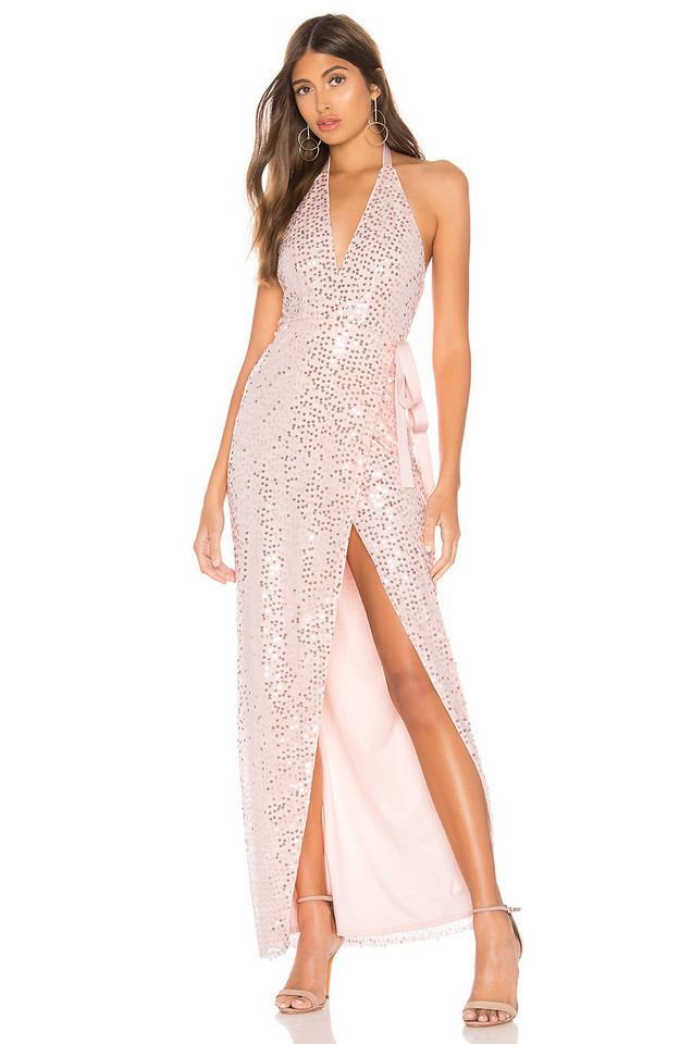 h:ours Helen Gown in pink