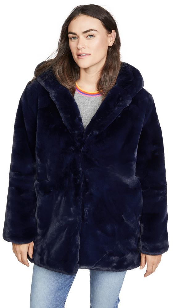Apparis Marie Faux Fur Coat in blue