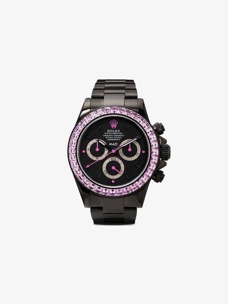 MAD Paris black Rolex Daytona pink sapphire watch