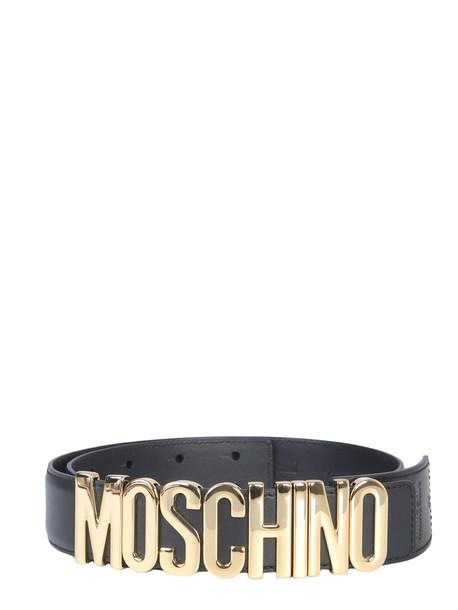 Moschino Belt With Logo in nero