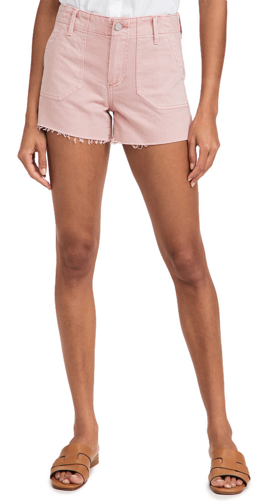 PAIGE Mayslie Utility Shorts in pink