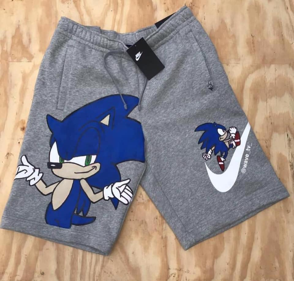 nike shorts with cartoon characters
