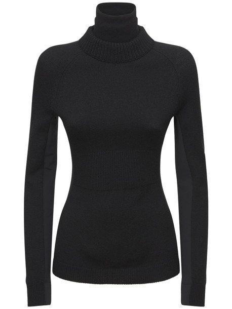 MONCLER GRENOBLE Wool Stretch Turtleneck Sweater in black