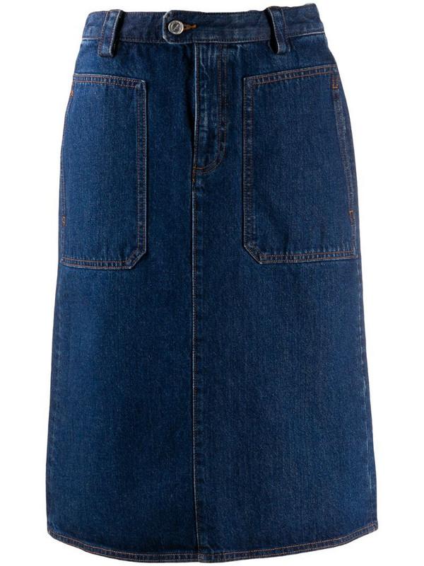A.P.C. Jupe Nevada denim skirt in blue