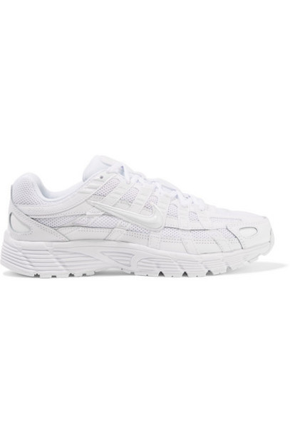 Nike - P-6000 Leather And Mesh Sneakers - White