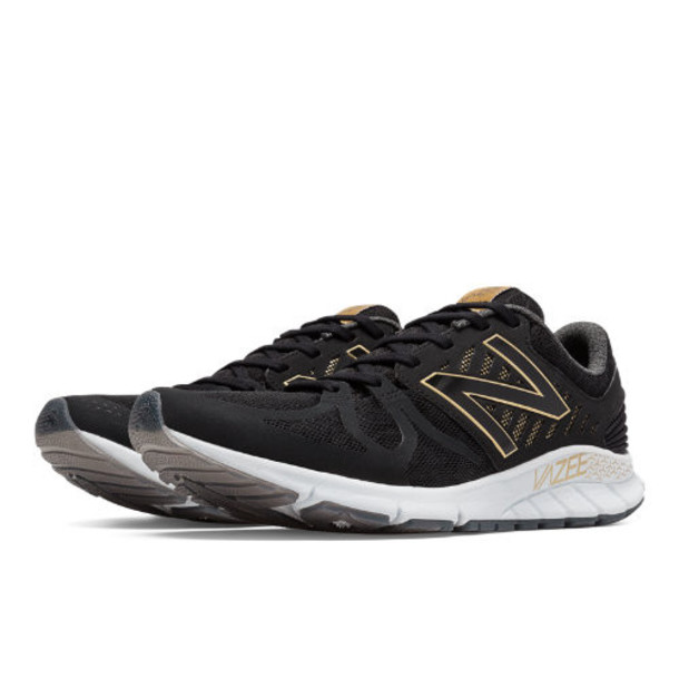 New Balance Limited Edition Vazee Rush Bold and Gold Men's Speed Shoes - Black, Gold (MRUSHAS)