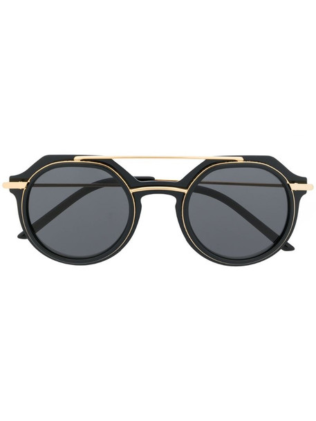 Dolce & Gabbana Eyewear Slim round-frame sunglasses in black
