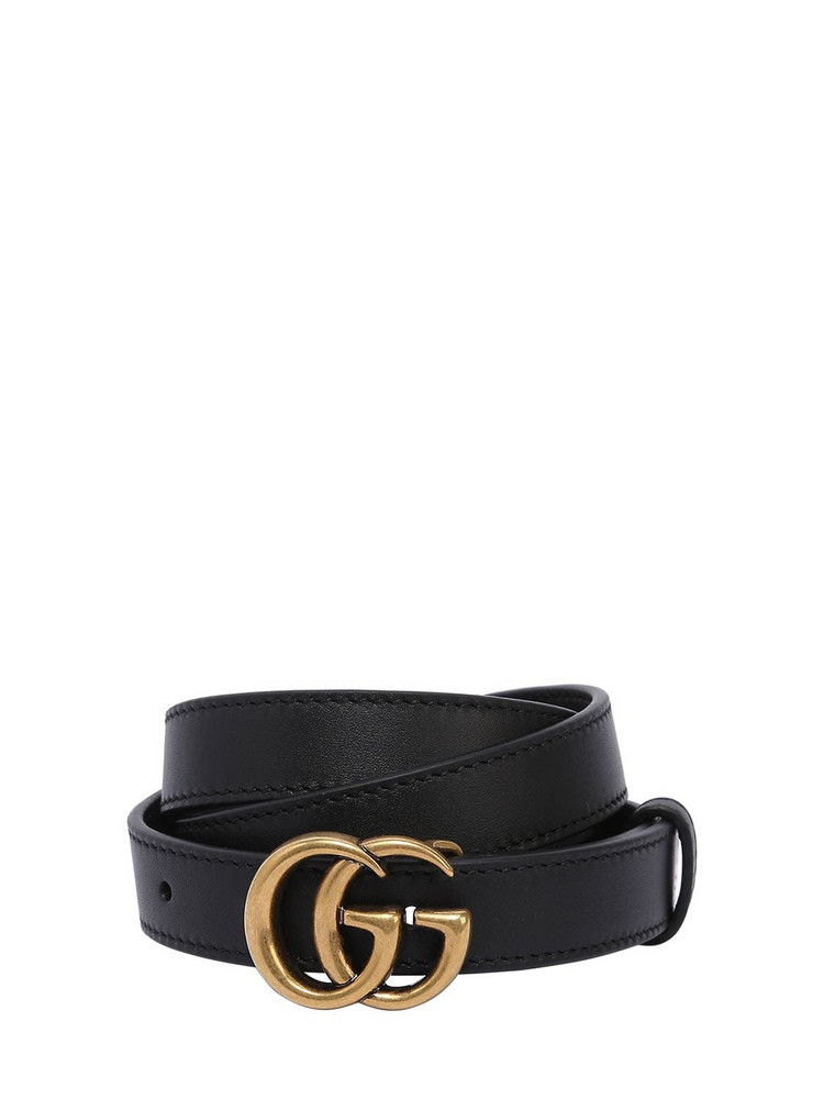 GUCCI 20mm Gg Marmont Leather Belt in black