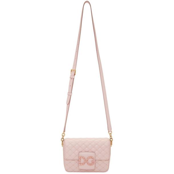 Dolce and Gabbana Dolce & Gabbana Pink Mini Crystal Logo Bag