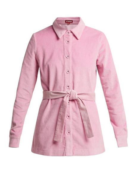 Staud - Haley Corduroy Shirt Jacket - Womens - Pink
