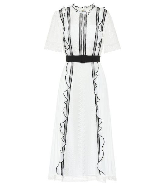 Self-Portrait Lace midi dress in white