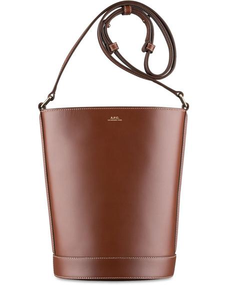 A.P.C. Ambre Seu Leather Shoulder Bag