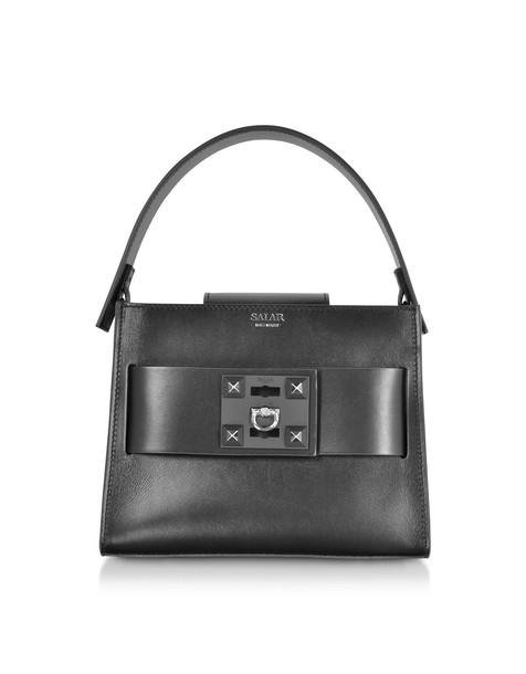 satchel basic bag satchel bag leather black black leather