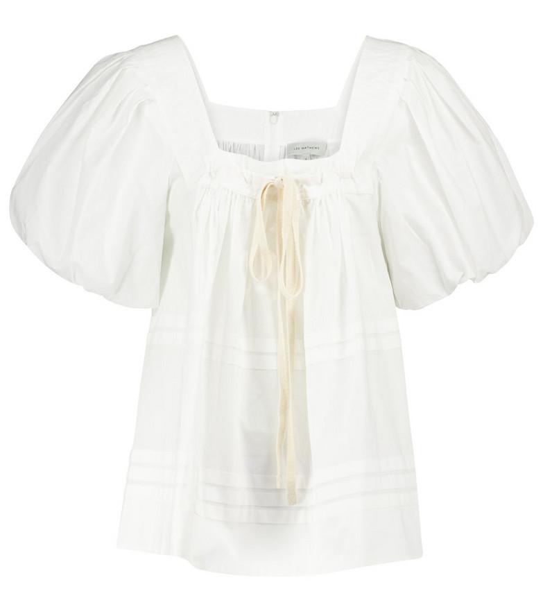 Lee Mathews Robin cotton poplin blouse in white