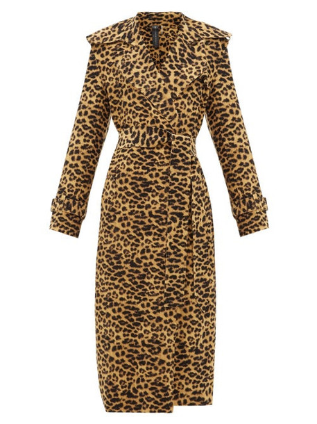 Norma Kamali - Double-breasted Leopard-print Trench Coat - Womens - Leopard