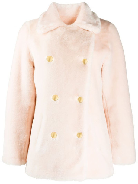 La Seine & Moi Brigitte faux-fur coat in pink