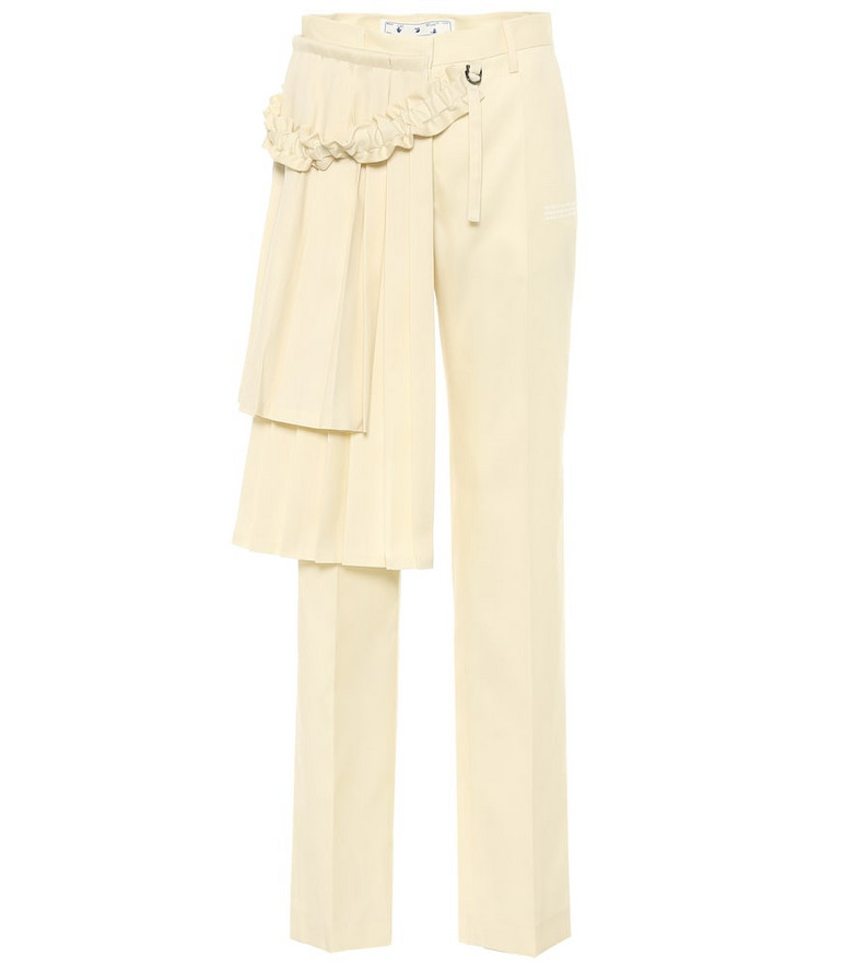 Off-White Curtains high-rise wool pants in beige