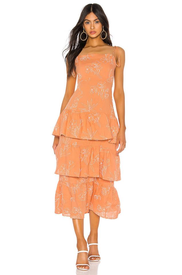 Capulet Quinn Tiered Dress in orange