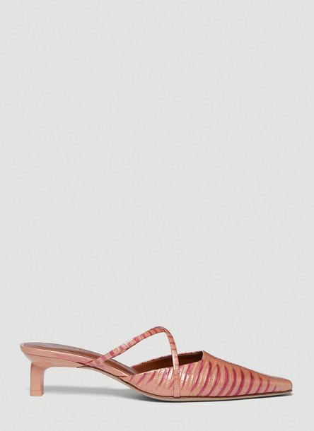 Rejina Pyo Phoebe Leather Heeled Mules in Pink size EU - 36