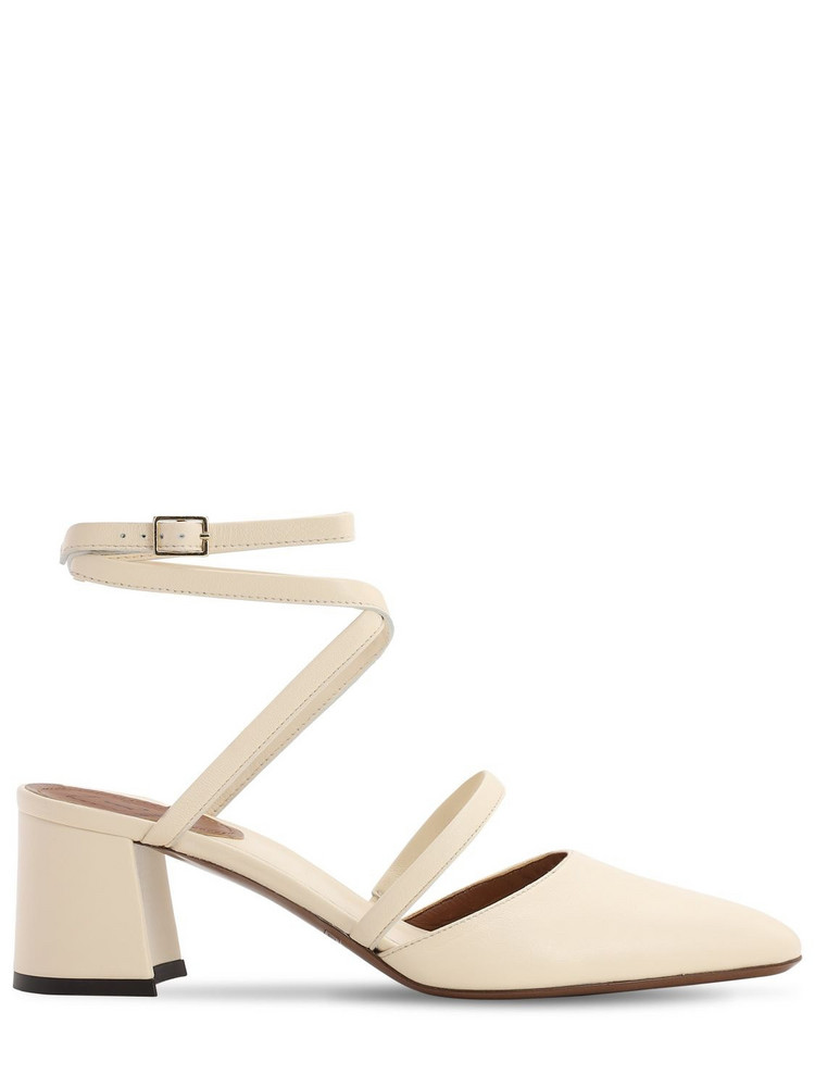 L'AUTRE CHOSE 60mm Leather Pumps in white