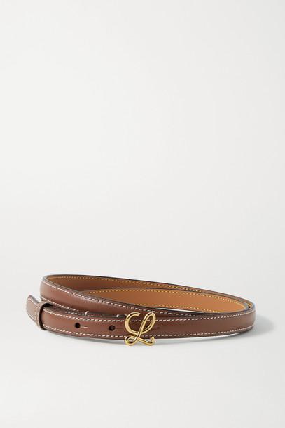 LOEWE - Leather Belt - Brown