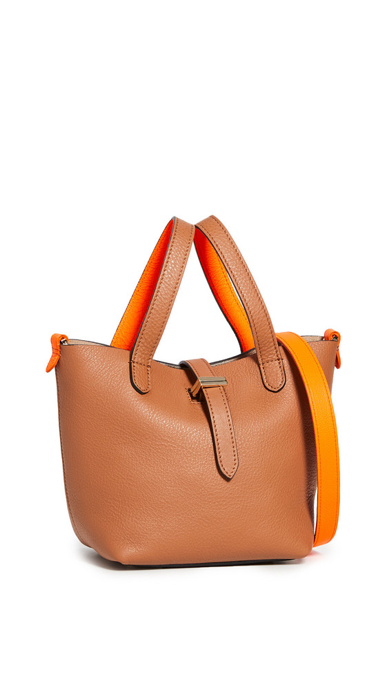 meli melo Thela Mini Shopper Bag in tan / orange