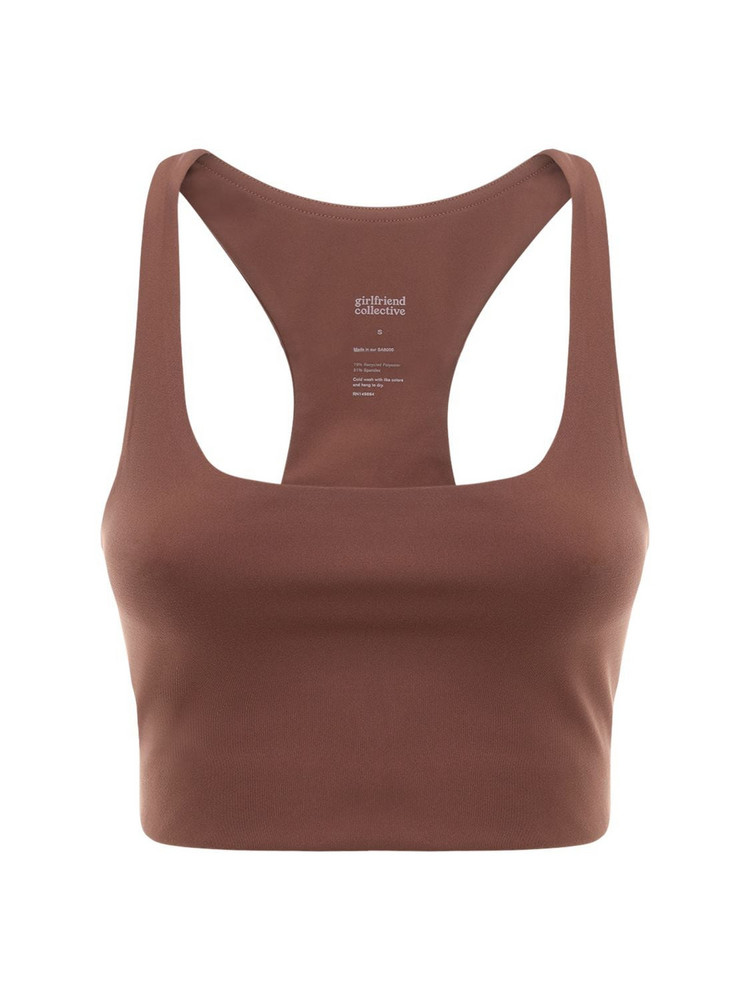 GIRLFRIEND COLLECTIVE Paloma Bra Top in brown