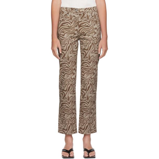 Miaou Brown Zebra Junior Jeans