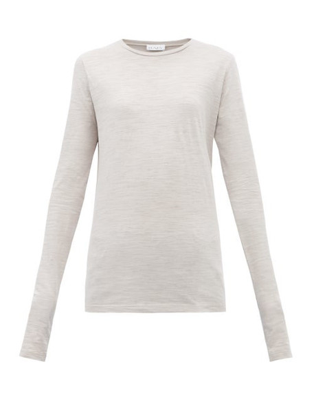 Raey - Long Sleeved Slubby Cotton Jersey T Shirt - Womens - Grey