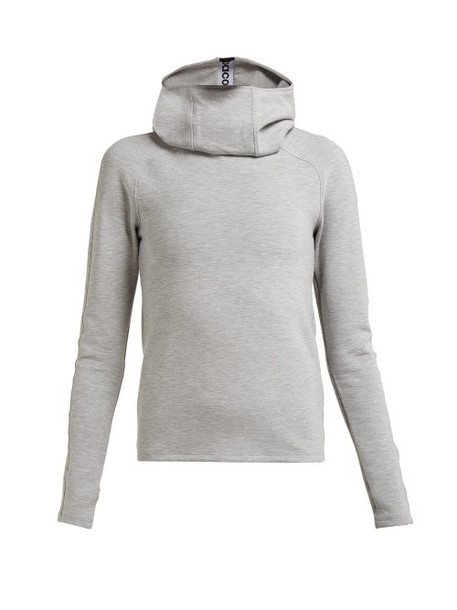 Paco Rabanne - Logo Jacquard Hooded Sweatshirt - Womens - Grey