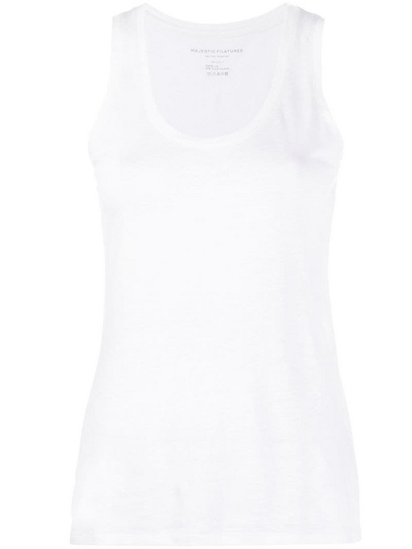 Majestic Filatures boxy fit vest top in white
