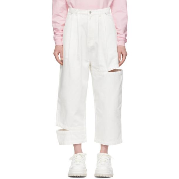 Perks and Mini SSENSE Exclusive White Bri Bri Jeans