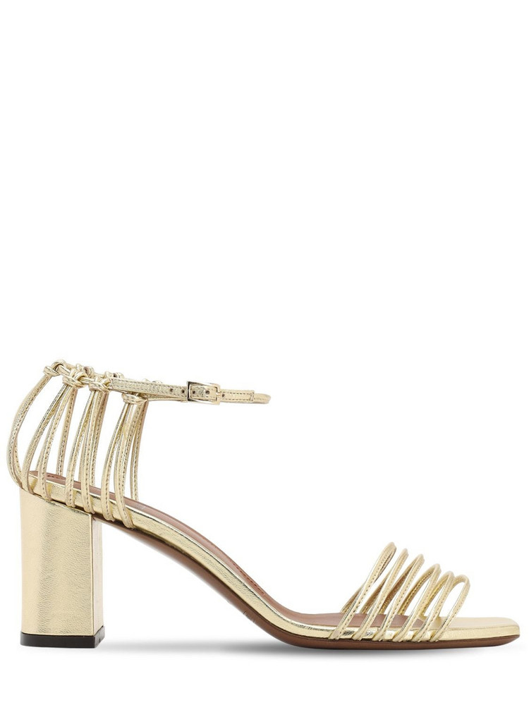 L'AUTRE CHOSE 70mm Metallic Leather Sandals in gold