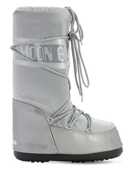 MOON BOOT Glance Waterproof Snow Boots in silver
