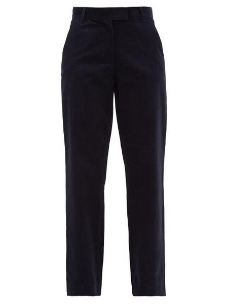 A.P.C. A.p.c. - Albane Cotton Blend Corduroy Trousers - Womens - Navy