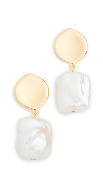 Lizzie Fortunato Pearly White Earrings