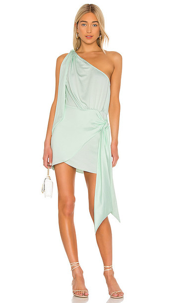 L'Academie The Ambrosine Mini Dress in Mint