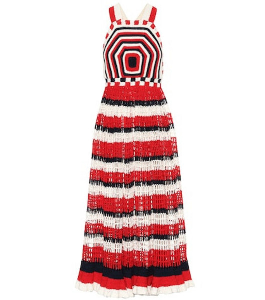 Ulla Johnson Paz cotton crochet maxi dress in red