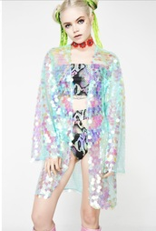 jacket,kimono,rainbow,festival
