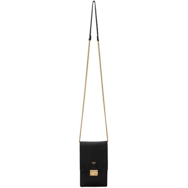 Fendi Black Vertical Chain Kan U Bag