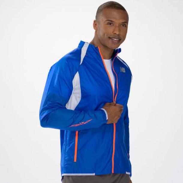 New Balance 4100 Men's Boylston Jacket - Cobalt Blue, White (MRJ4100CBT)