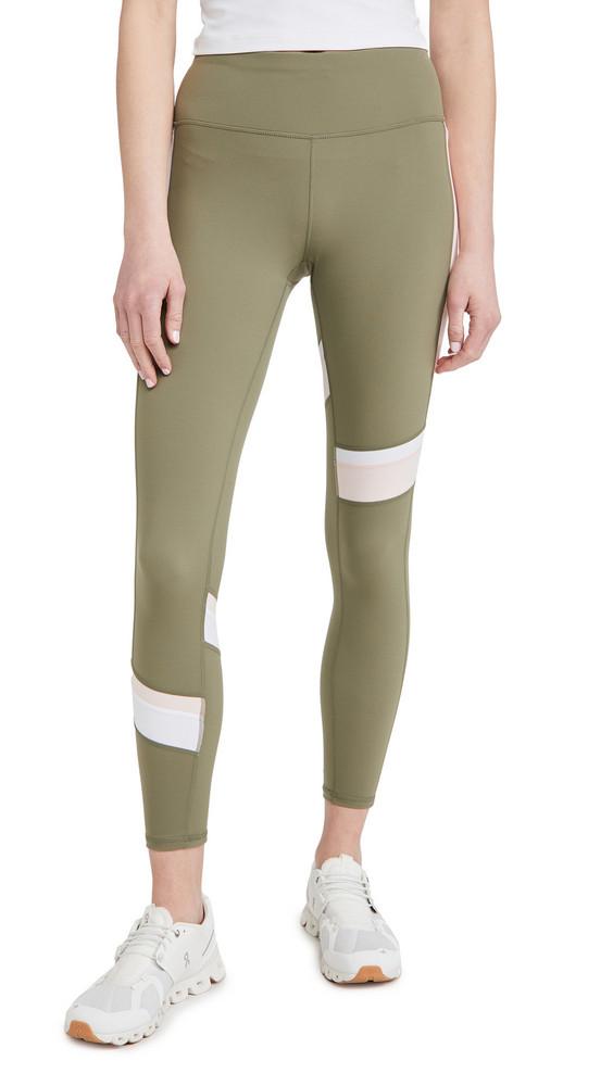 Sweaty Betty Power Block Workout Leggings in green
